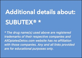 Identify Subutex Package Label